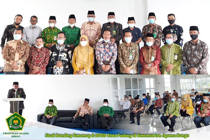 Studi Banding Kemenag Padang Bersama DPRD Padang di Kemenag